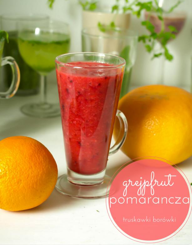 smoothie truskawkowe grapefruit