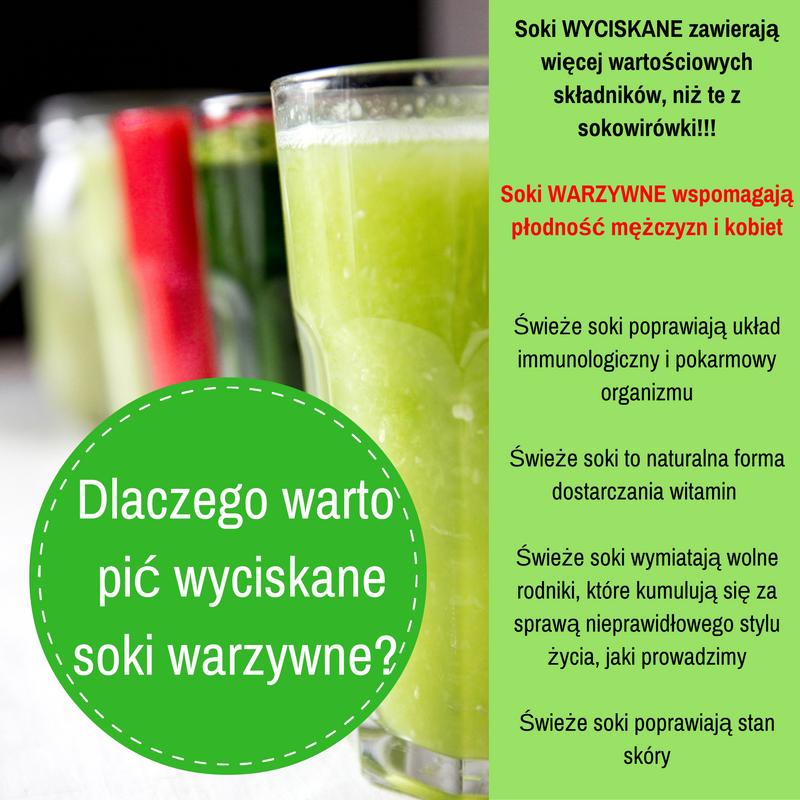 Dlaczego warto pić soki warzywne